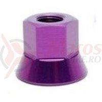 Axle Nuts 3/8 purpuriu single