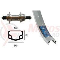 Roata spate 28x1.75  36 L Screw Crown 519R silver 6/7x Niro-Spokes