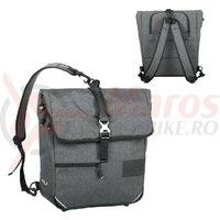 Geanta portbagaj spate Norco Portree tweed grey,38x36x13cm, appr.1.250g