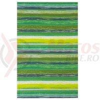 Bandana M-Wave 24x48 cm green stripes