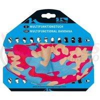 Bandana M-Wave camuflaj roz/albastru/crem