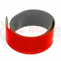 Banderola reflectorizanta 3M Slap wrap pentru rulare pe brat/picior 3x38 cm rosu
