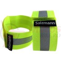 Banderole reflectorizante 3M pt rulare pe brat/picior textil elastic 2buc verde