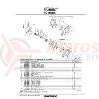 Bash guard Shimano FC-M810-2 pentru 34/36T