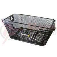 Basil Capri Flex back wheel basket 39x30x17 cm, black, close meshed