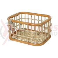Cos bicicleta Basil Green Life Rattan M 39x29x22cm, natural brown