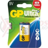 Baterie alcalina 9V 1 buc/blister UltraPlus GP