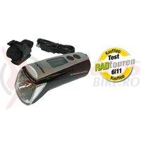 Lumina Batt-LED Trelock EcopowerControl LS 950 negru cu suport ZL 760