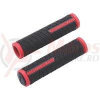 BBB Mansoane DualGrip 125mm negru/rosu