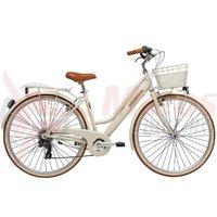 Bicicleta Adriatica City Retro Donna 28 inch crem 2018