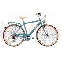 Bicicleta Adriatica City Retro Man albastru deschis 2016