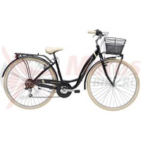 Bicicleta Adriatica Panda 28 Lady 6V neagra matt