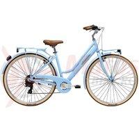 Bicicleta Adriatica Retro Lady 28 albastru deschis