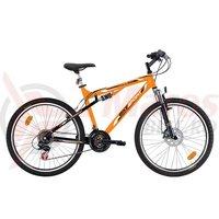 Bicicleta Bikesport Full 26 mango/negru 2014