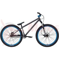 Bicicleta BMX Eastern Night Train 26 22.5TT negru/albastru 2012