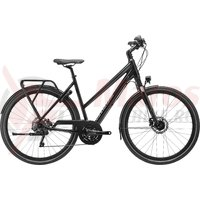 Bicicleta Cannondale Tesoro Mixte 1 Black Pearl, Charcoal Grey and Graphite, reflective decal 2020