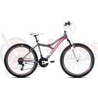 Bicicleta Capriolo 26' Diavolo 600 FS grey-pink