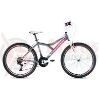 Bicicleta Capriolo 26' Diavolo 600 grey/pink