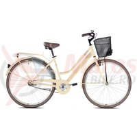 Bicicleta Capriolo Amsterdam Lady 28 cream-steel