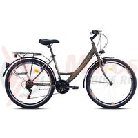 Bicicleta Capriolo Metropolis Lady 26 black-orange