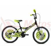 Bicicleta Capriolo Mustang black-lime 20