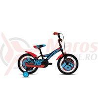 Bicicleta Capriolo Mustang negru/albastru 16