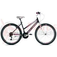Bicicleta Capriolo Passion Lady negru/alb/roz 2017