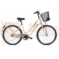 """Bicicleta Capriolo Picnic 26"""" Beige Brown 17"""