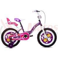Bicicleta Capriolo Viola Girl violet-white-pink 16