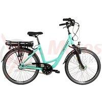 Bicicleta City E-Bike Devron 26120 albastru deschis 2018