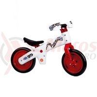 Bicicleta copii B-Bip alb cu rosu