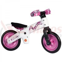 Bicicleta copii B-Bip alb cu roz