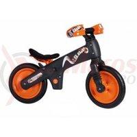 Bicicleta copii B-Bip gri inchis cu portocaliu