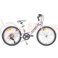 Bicicleta copii Cross Alissa 24 inch alba