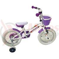 Bicicleta copii Dhs 1402 - 14 Inch Alb