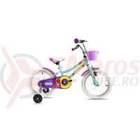 Bicicleta Copii Dhs 1604 - 16 Inch, Turquoise