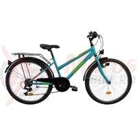 Bicicleta Copii Dhs Terrana 2414 - 24 Inch, Turcoaz