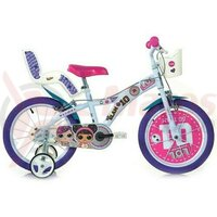 Bicicleta copii Dino 14'' LOL