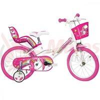 Bicicleta copii Dino 14'' Unicorn