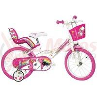 Bicicleta copii Dino 16'' Unicorn