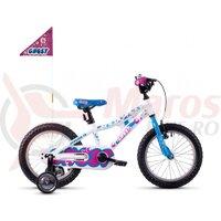Bicicleta copii Ghost Powerkid Al 16 K 2020 Alb/Albastru