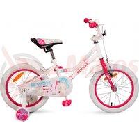 Bicicleta Copii Little Princess - 16 Inch Alb