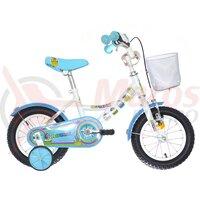 """Bicicleta copii Neuzer BMX - 12"""" - Alb/Albastru-cupake"""