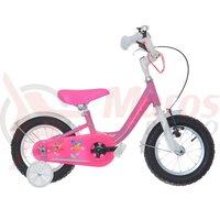 Bicicleta copii Neuzer BMX - 12' Roz/Alb