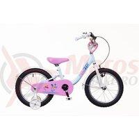 Bicicleta copii Neuzer BMX - 14' Albastru/Alb-roz