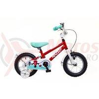 Bicicleta copii Neuzer BMX - 14' Rosu/Alb-Turcoaz