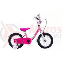 Bicicleta copii Neuzer BMX - 14' Roz/Alb