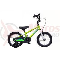 Bicicleta copii Neuzer BMX - 14' Verde/Alb-Albastru