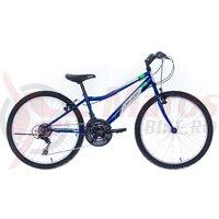 """Bicicleta copii Neuzer Bobby Revo - 24"""" 18v Albastru Royal/Alb-Verde"""