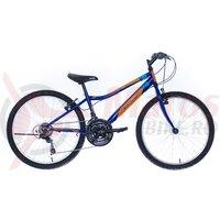"Bicicleta copii Neuzer Bobby Revo - 24"" 18v Albastru Royal/Portocaliu-Albastru"